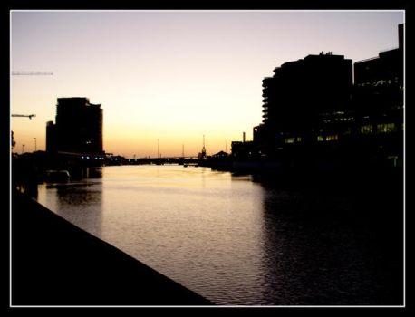 Sunset by the Yarra by MattLew