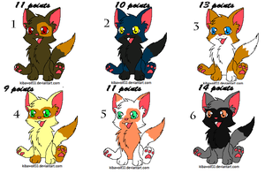 Kitten Adoptables by Frozen-Icicles