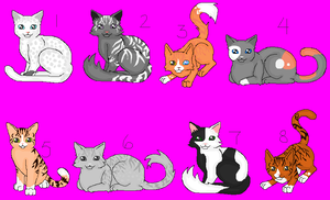 Warrior Cat Adoptables CLOSED by TikamiHasMoved