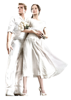 Katniss y Peeta (The Hunger Games) PNG Render by GAJMEditions