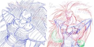 Raditz will murder you doodle by Paradise-of-Darkness