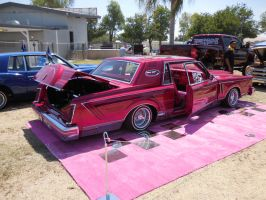 Pink Lincoln Continental lowrider by Jetster1