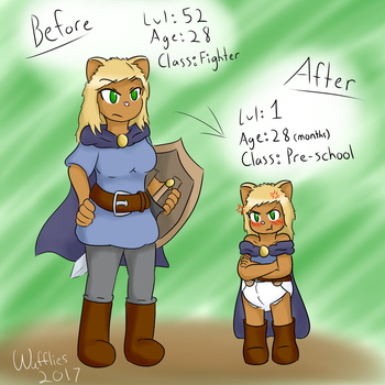 Before and After - ABDL by waffliesinyoface