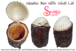 Wooden Box With Seashell by snazzie-designz