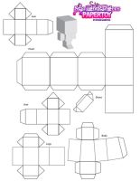 papertoy template by saintpoet