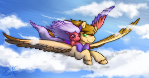 Flying Together by DawnAllies
