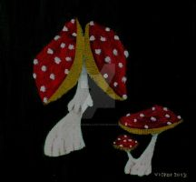 Fly-agaric in acrylics by ragnarjungellvictor