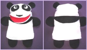 panda puppet by VioletLunchell