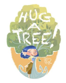 Hug a Tree by IriusAbellatrix