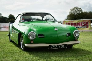 VW Karmann Ghia, green 2 by FurLined