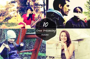 10 Free Cross Processing Adobe Photoshop Actions by symufa