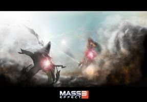 Mass Effect 3 Fan Art by McFox121