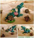 Glow-in-the-dark Ghoul Dragon Dice Holder by Plushiesaur