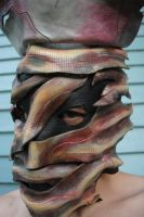 Leather Cursed Nurse Mask: Close Up by Epic-Leather