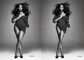 Fat model retouch by hellomia