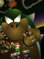 A Slightly Larger Baby Bowser by BoredomsBestFriend