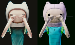 Face Rig Finn is happy by TheKidTrio