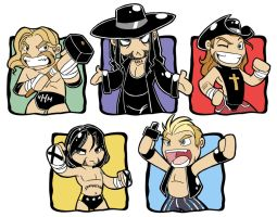 WWE be Chibi by Oniwanbashu