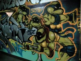 TMNT Spray-Paint by DaveSchultz