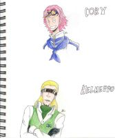 Coby and Helmeppo by Smudgeandfrank