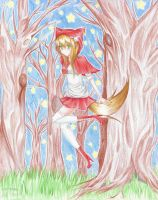 Red Riding Wolfy COLORED by HibikiChan