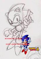 Sonic 4- Sonic by adamis