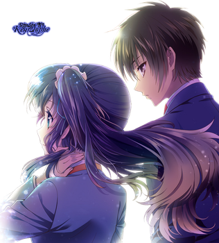 Nagi no Asukara - Chisaki and Tsumugu Render by kemzlophe