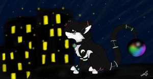 fireflies and streetlights (contest entry) by candywolf27