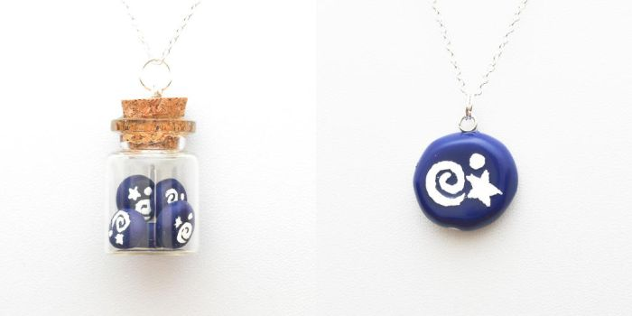 Animal Crossing fossil necklaces by FrozenNote