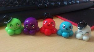 Polymer Octopus Team :) by NekoClay