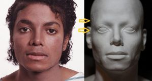 Michael Jackson lifesize bust BAD version MJ-R2 by godaiking