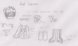 .:The 12 Zodiac Sages:. Axel Concept Art by TechnoGamerSpriter
