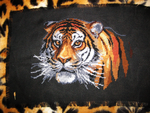 Embroidery - Tiger's head by agentsniper