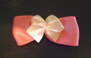 Two Pinks Satin Bow by Ms-Mordant