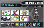 My Pokemon trainer card by pikatchi