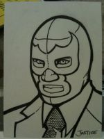 Blue Demon Jr. Sketchcard by Guerrillasuit