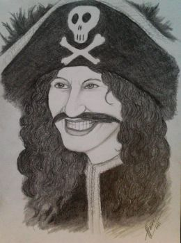 Cpt.Sabertooth (Free hand drawing) by Dimjumper