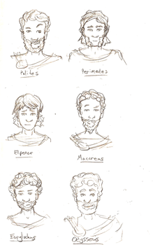 Odyssey - Main Characters by tenwhiteapricots