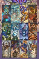 2016 Zodiac Dragons by The-SixthLeafClover
