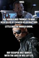 Nick Fury Jurassic Park Conspiracy by kaijugroupie84
