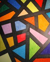 Stained Glass -oil pastels by cadillacphunque