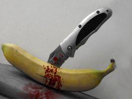 Murdered banana by PhotoshopStop