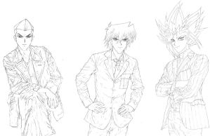 Commission part for Kamilah: Yugioh Men as Dr. Who by Yamigirl21