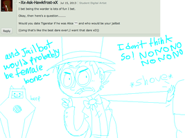 Answer 42: haha alice and jailybot by ask-female-scourge