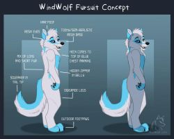 WindWolf Fursuit Concept by WindWo1f