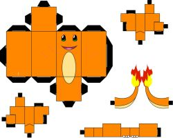Pokemon 004 - Charmander by straffehond