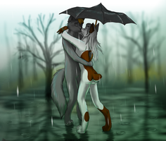 Kissing in the Rain by bingles