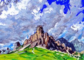 Mountains (acrylics practice) by KingVahagn
