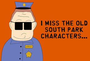 I Miss the old South Park characters by TheDrifterWithin