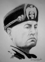Benito Mussolini by somefreakylooknchick